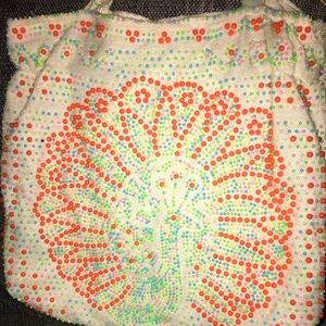 Vintage peacock bag from 1970's